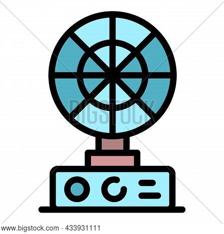 Table Fan Icon. Outline Table Fan Vector Icon Color Flat Isolated