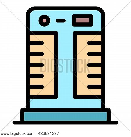 Floor Air Conditioner Icon. Outline Floor Air Conditioner Vector Icon Color Flat Isolated