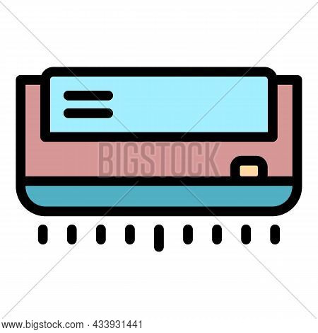 Home Air Conditioning Icon. Outline Home Air Conditioning Vector Icon Color Flat Isolated