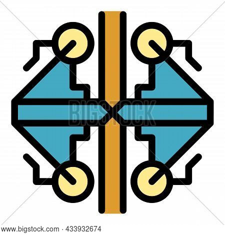 Ancient Alchemy Icon. Outline Ancient Alchemy Vector Icon Color Flat Isolated