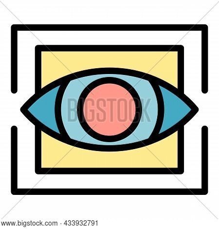 Trendy Eye Alchemy Icon. Outline Trendy Eye Alchemy Vector Icon Color Flat Isolated
