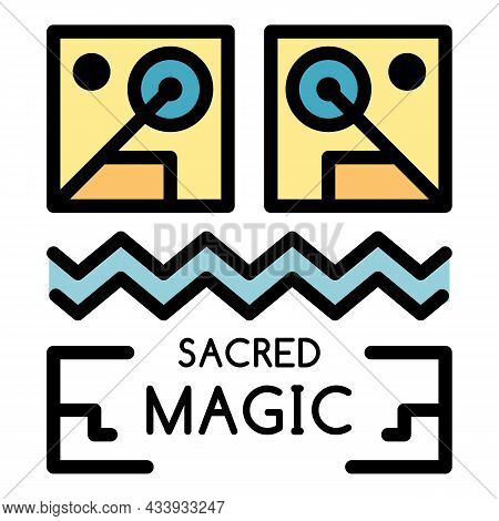 Sacred Magic Icon. Outline Sacred Magic Vector Icon Color Flat Isolated