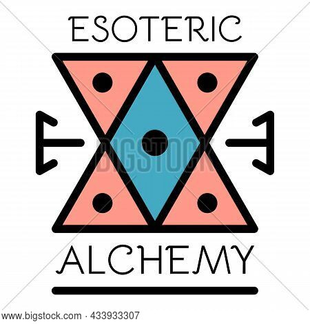 Esoteric Alchemy Icon. Outline Esoteric Alchemy Vector Icon Color Flat Isolated