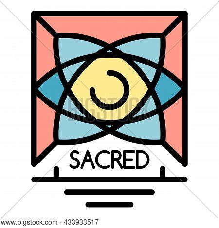 Sacred Alchemy Icon. Outline Sacred Alchemy Vector Icon Color Flat Isolated