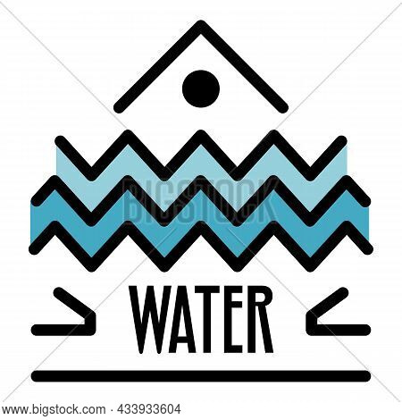 Water Alchemy Icon. Outline Water Alchemy Vector Icon Color Flat Isolated