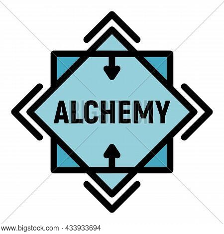 Alchemy Icon. Outline Alchemy Vector Icon Color Flat Isolated