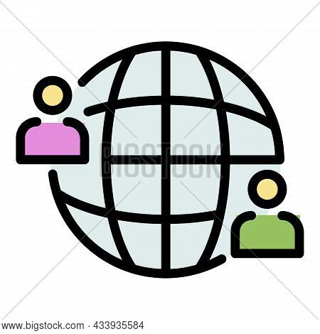 Global Advice Icon. Outline Global Advice Vector Icon Color Flat Isolated