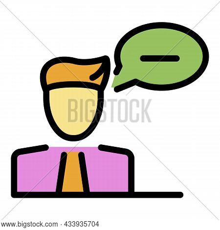 Answer Chat Icon. Outline Answer Chat Vector Icon Color Flat Isolated
