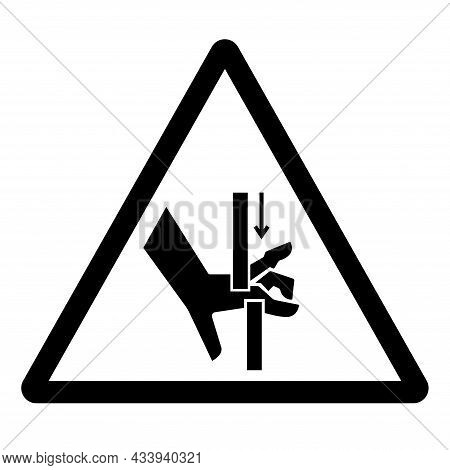 Hand Crush Moving Parts Symbol Sign, Vector Illustration, Isolate On White Background Label .eps10