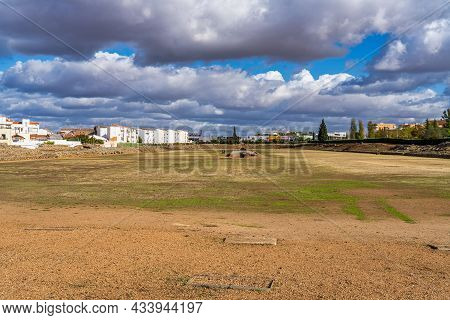 Merida, Spain - November 05, 2019: The Roman Circus Of Merida, Spain Was Used For Chariot Racing And