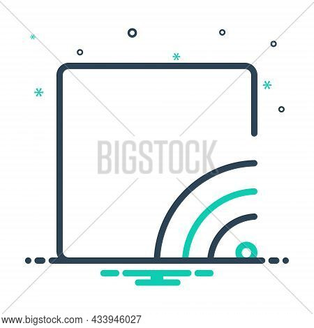 Mix Icon For Stream Broadcast Communication Wifi Multimedia Broadcasting Internet Router