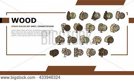Wood Land Growth Natural Tree Landing Web Page Header Banner Template Vector. Cherry And Mango Fruit
