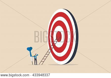 Aiming For High Target Mission, Plan And Strategy To Achieve Goal, Business Opportunity Or Career Su