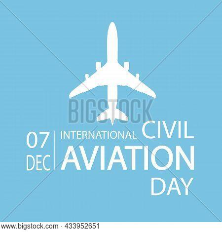 Plane For International Civil Aviation Day, Vector Art Illustration.