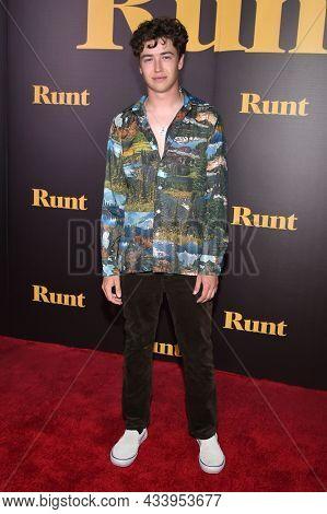 LOS ANGELES - SEP 01: Garrett Ryan arrives for the 'Runt' Los Angeles Premiere on September 22, 2021 in Hollywood, CA