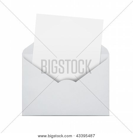Blank Letter In An Envelope