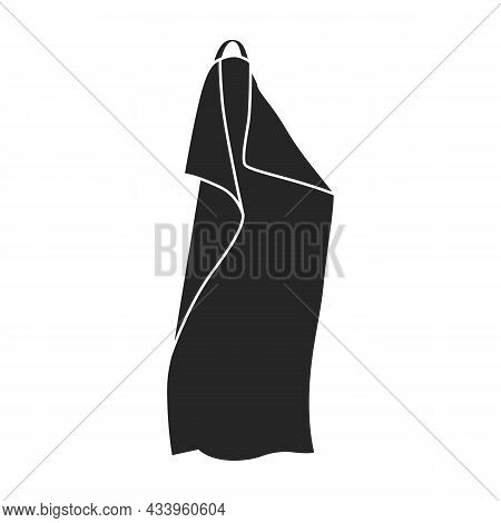 Towel Vector Icon.black Vector Icon Isolated On White Background Towel.