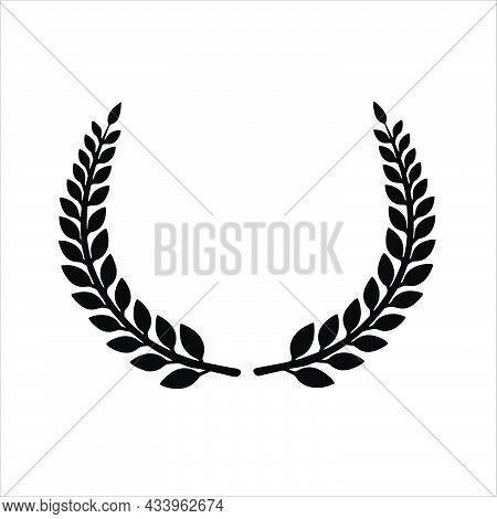 Circular Laurel Foliate, Wheat And Oak Wreaths Depicting An Award, Achievement, Nobility. Vector Ill
