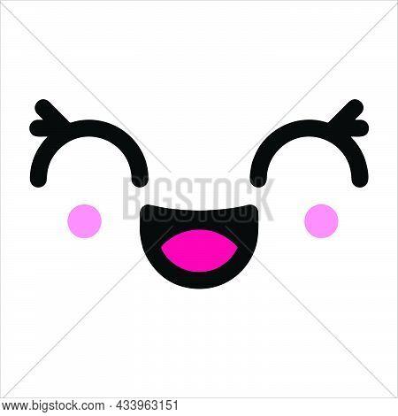 Smile Icon Isolated On White Background. Smile Icon In Trendy Design Style. Smile Vector Icon