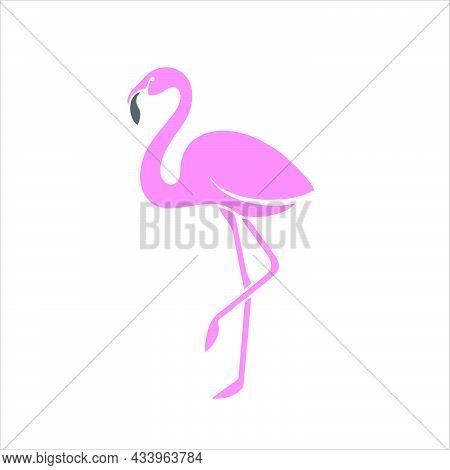 Flamingo Symbol For Logo, Web, App, Ui. Flamingo Icon Simple Sign. Flamingo Icon Flat Vector Illustr