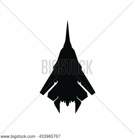 Fighter Jet Icon Isolated On White Background From Vehicles Collection. Fighter Jet Icon Trendy And