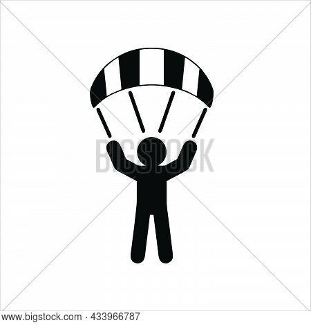 Parachute Icon Isolated On White Background.  Parachute Symbol For Logo, Web, App