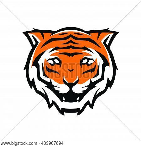 Tiger Sports Logo, Tiger Icon Isolated On White Background, Tiger Icon Trendy And Modern Symbol For