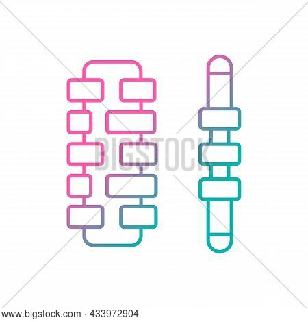 Massage Roller Sticks Gradient Linear Vector Icon. Tool For Reducing Muscle Pain And Tension. Handhe