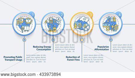 Green Initiatives Vector Infographic Template. Use Public Transport Presentation Outline Design Elem