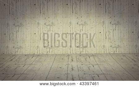 Realistic 3D Presentation Empty Room - Floor Cement Background Texture