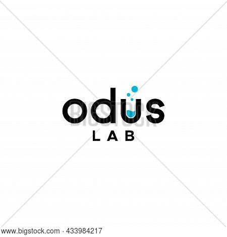 Modern, Clean And Unique Design Wordmark About Laboratory Or Science. Eps 10, Vector.