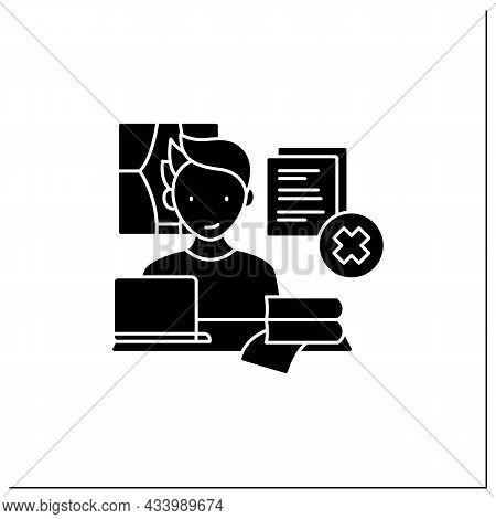 Remote Work Glyph Icon. Tribal Knowledge. Lack Of Documentation. Organization Collective Wisdom.care