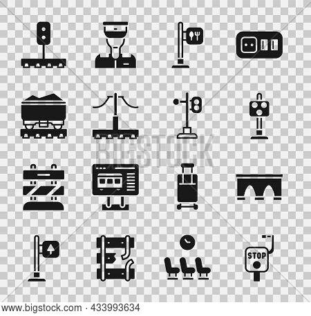 Set Emergency Brake, Bridge For Train, Train Traffic Light, Cafe And Restaurant Location, Railway, C