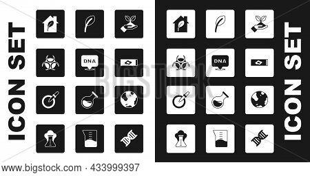 Set Plant In Hand, Dna Symbol, Biohazard, Eco Friendly House, Blood Test Virus, Leaf Or Leaves, Eart