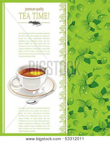 Beautiful Tea time template