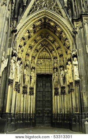 Entrance to Cologne Cathedral in Germany