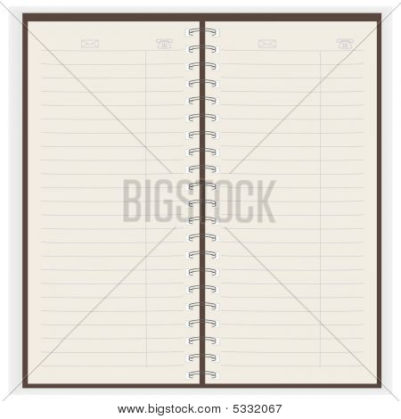 Copybook. Vector Illustration