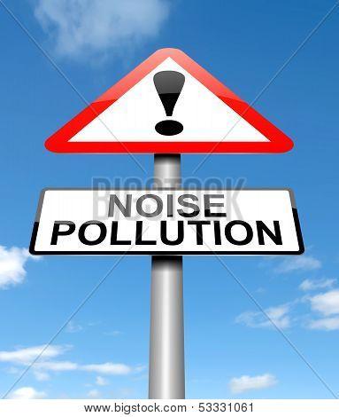 Noise Pollution Concept.