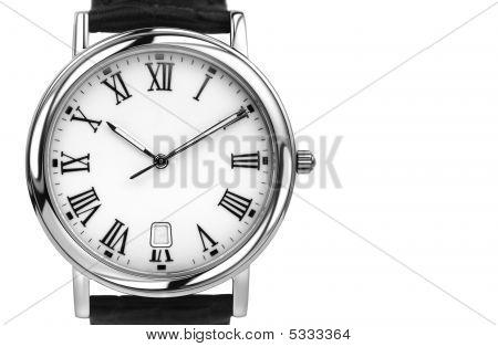 White Gold Watch With Lots Of Copyspace