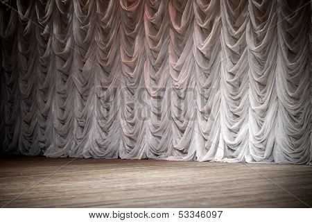 An Empty Theatrical Stage Background