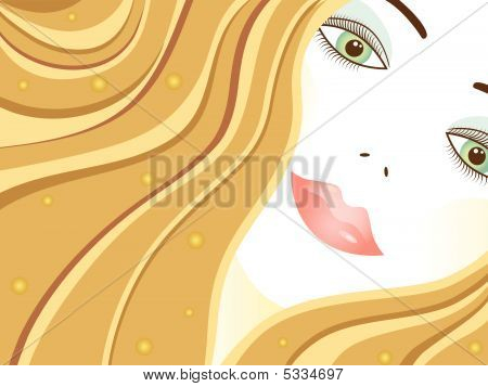 Vector Illustration Of Elegance  Woman Face