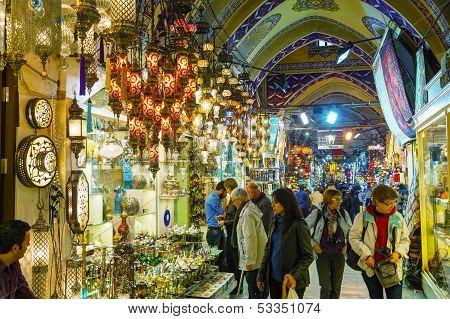 Grand Bazaar In Istanbul Interior