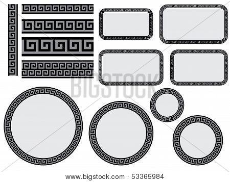 Design Elements With Greek Pattern