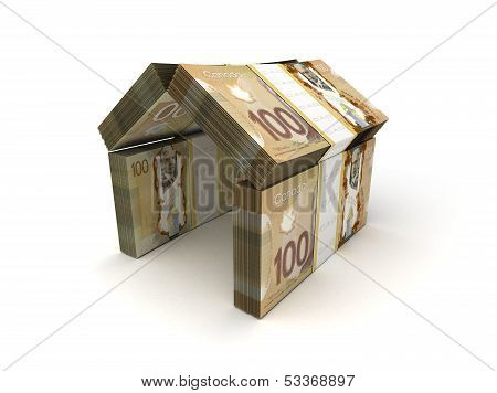 Real Estate Concept Canadian Dollar