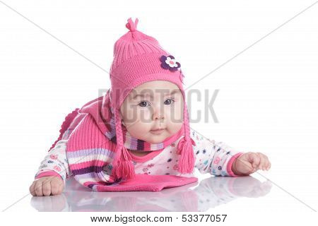 Baby Hat With Pigtails