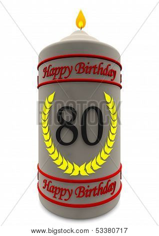Birthday Candle For 80Th Birthday