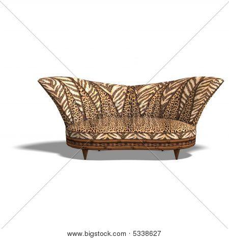 Cushy Sofa With African Design