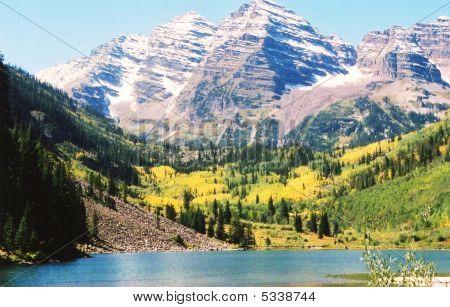 Maroon Bells In Aspen, Colorado