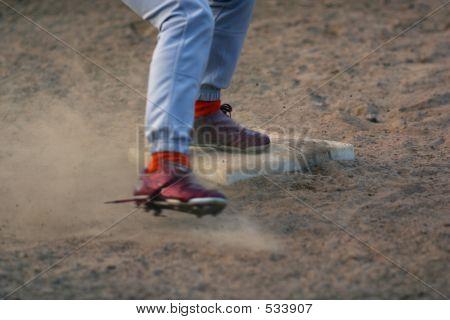 Feet Sliding Into Base