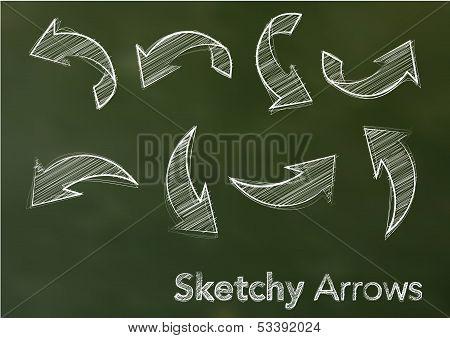 Sketchy vector arrows